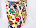 Пляжная текстильная летняя сумка для пляжа и прогулок Цветы фото 1