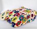 Пляжная текстильная летняя сумка для пляжа и прогулок Цветы фото 2