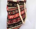 Пляжная текстильная летняя сумка для пляжа и прогулок орнамент Индия фото 1