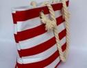 Пляжная текстильная сумка для детей и подростков в полоску фото 1
