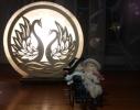 Соляная лампа Лебеди фото