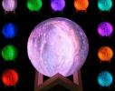 Настольный светильник 3D MOON LAMP Месяц 15 см Цветной фото 6