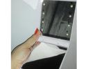 Карманное зеркало складное с LED подсветкой белое фото 7