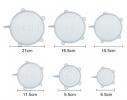 Набор силикон. крышек Super Stretch Silicone Белый 6 шт. фото 6