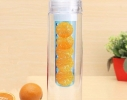 Бутылка со съемным отделом для фруктов Синяя фото