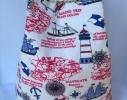 Летняя текстильная сумка, рюкзак для пляжа и прогулок Морская фото