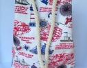 Летняя текстильная сумка, рюкзак для пляжа и прогулок Морская фото 1