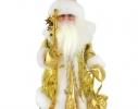 Новогодняя игрушка Дед Мороз золотистый музыкальный фото