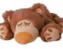 Игрушка-грелка Плюшевый Спящий мишка Шоколадный фото