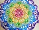 Пляжный коврик Мандала фиолетовый фото 4