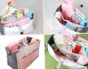 Сумка на коляску для детских вещей и мелочей Светло-розовая фото 2