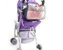 Сумка на коляску для детских вещей и мелочей Светло-розовая фото