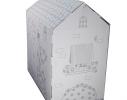 Картонный домик-раскраска фото 2
