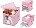 Кофр - органайзер для игрушек и вещей Бамбук розовый фото 2
