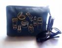Косметичка с вышивкой Cosmetics Синяя фото 1