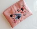 Косметичка с вышивкой Makeup Розовая фото 2