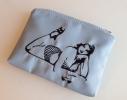 Косметичка с вышивкой Красотка Серая фото 2