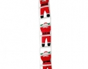 Новогодняя Игрушка Подвесные Santa Claus Декор для Дома Санта Клаусы с Мешком Лезут по Лестнице 35 см фото
