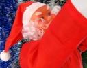 Новогодняя Игрушка Подвесные Santa Claus Декор для Дома Санта Клаусы с Мешком Лезут по Лестнице 35 см фото 1
