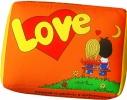 Подушка Love is оранжевая фото 1
