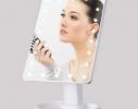 Настольное зеркало для макияжа Magic Makeup с LED подсветкой Белое фото 1