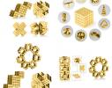 Магнитная игрушка головоломка Неокуб 216 кубов. Золото фото 9