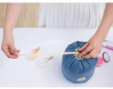 Косметичка - органайзер дорожная с затягиваемой горловиной Синяя фото 13
