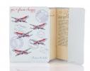 Кожаная обложка на паспорт You + Plane = Happy фото 1