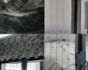 Дверная антимоскитная сетка Magnetic Mesh на магнитах чёрная фото 4
