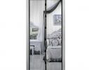 Дверная антимоскитная сетка Magnetic Mesh на магнитах чёрная фото 3