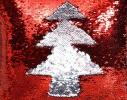 Подушка антистресс с пайетками-перевертышами красный/серебро фото