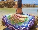 Пляжный коврик Мандала фиолетовый фото 1