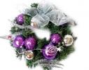 Новогодний венок Фиолетовый 23см фото