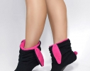 Тапочки Зайчики черные с розовыми ушами фото 1