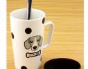 Чашка с крышкой и ложкой Собака фото