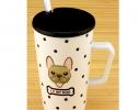 Чашка с крышкой и ложкой Собака фото 1