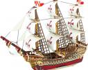 Миниатюрный 3D корабель ручной работы фото