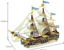 Миниатюрный 3D корабель ручной работы «Готенбург» фото 1
