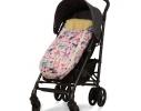 Конверт -кокон меховой Baby XS Рисунки на розовом фоне фото 2