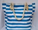Пляжная текстильная сумка в морском стиле в полоску фото 6