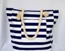 Пляжная текстильная сумка в морском стиле в полоску фото 7