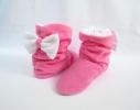 Тапочки Бантики розовые с белым бантом фото