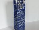 Пакет подарочный под бутылку с белым текстом фото 1
