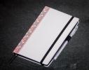Блокнот с черной бумагой Белая Вышиванка стандарт фото