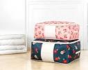 Кофр органайзер для постельного белья, одеял и одежды Синий фото 1