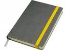 Бизнес-блокнот Fancy на желтой на резинке