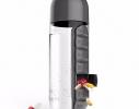 Бутылка для воды с органайзером для таблеток и витаминов черная, 600мл фото 1