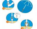 Бур для пляжного зонта 39 см. D 2.5 см. красный фото 3