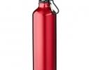 Алюминивая бутылка с карабином, 770мл Красная