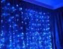 Гирлянда Штора Led 360 голубая фото 6